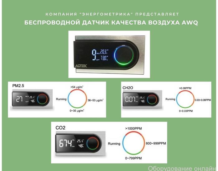 """Фото объявления Беспроводной датчик качества воздуха от компании """"Энергометрика"""""""
