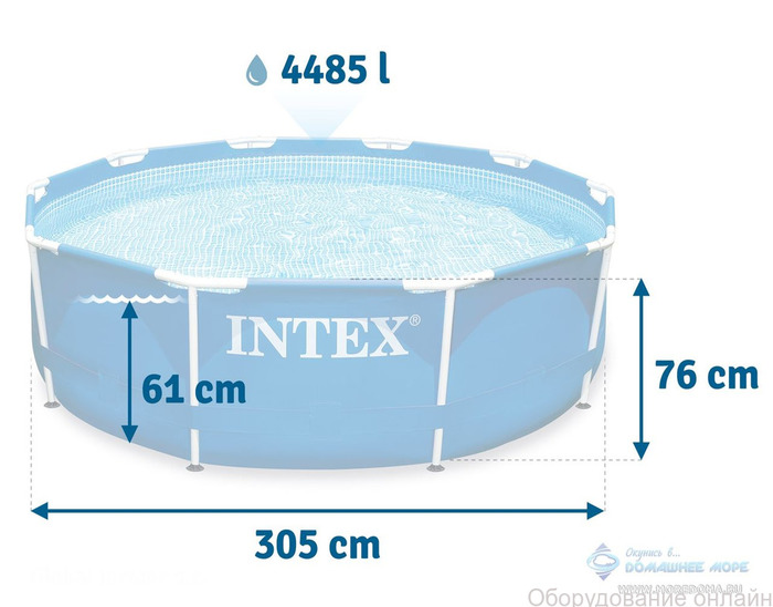 Фото объявления Каркасный бассейн INTEX Prism Frame (круг) 3.05 х 0.76 м ; артикул 26700