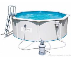 Стальной бассейн Hydrium Pool Set 460х120 см, 17430 л., песчн фильтр-насос 3785л/ч, лест.