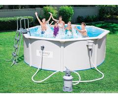 Стальной бассейн Hydrium Pool Set 300х120 см, 7630 л, песоч. фильтр-насос 3028л/ч, лестн.
