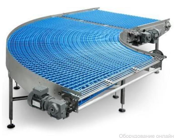 Фото объявления Поворотный конвейер с модульной лентой