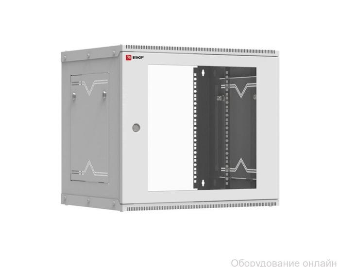 Фото объявления Шкаф телекоммуникационный настенный разборный 9U (600х450) дверь стекло, Astra серия EKF PROxima