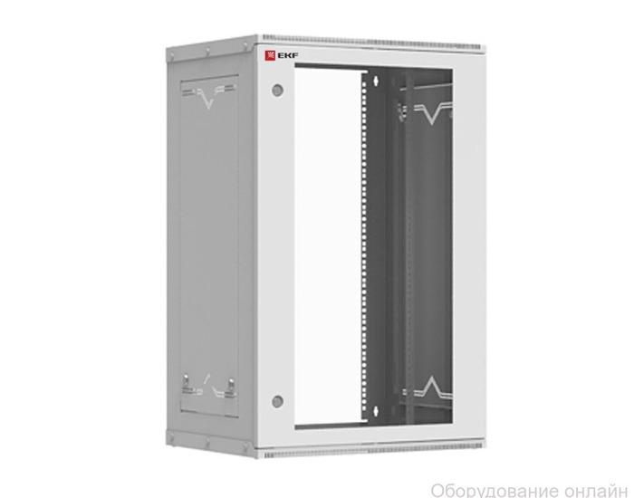 Фото объявления Шкаф телекоммуникационный настенный разборный 18U (600х450) дверь стекло, Astra серия EKF PROxima