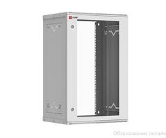 Шкаф телекоммуникационный настенный разборный 18U (600х450) дверь стекло, Astra серия EKF PROxima фото