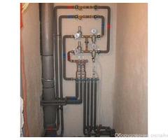 Фото объявления Подключение гребенки отопления и водоснабжения
