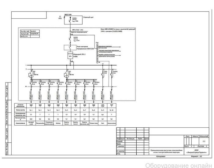 Фото объявления Примеры однолинейных схем электрических сетей